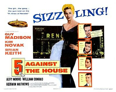 "LOBBY CARD FROM ""5 AGAINST THE HOUSE"" (REPRINT) - 8X10 or 11X14 PHOTO (MP-001)"