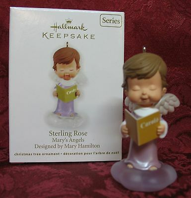 Hallmark 2012 Mary's Angels Series Ornament #25~Sterling Rose