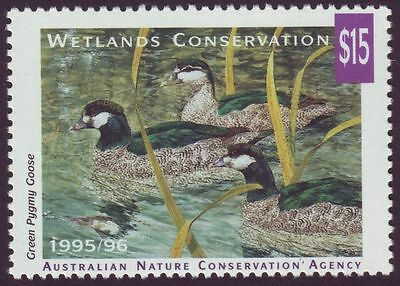 1995/6 NEW $15 WETLANDS CONSERVATION Discount STAMP (FULL GUM)