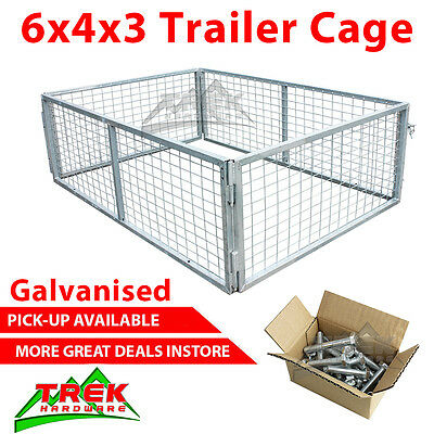 6x4x3 TRAILER CAGE GALVANISED CAGE 1800x1240x900MM