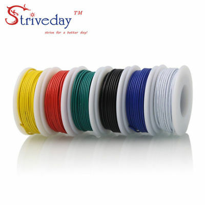 25m 18AWG 5 color Mix box 1 package Electrical Wire Line Airline Copper PCB Wire