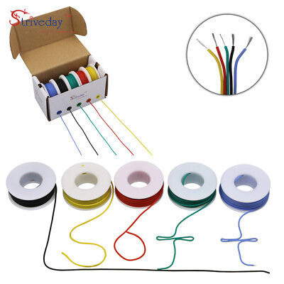 30m 22AWG Silicone Wire 5 color Mix box 1 package Electrical Wire Line Copper