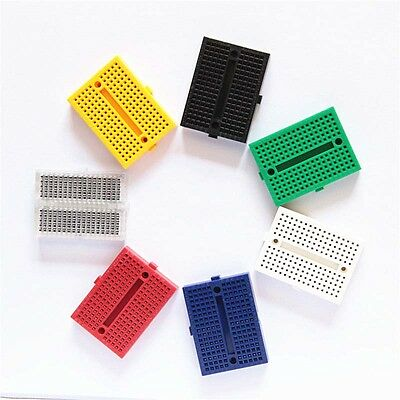 10PCs Daisy Prototype Solderless 170 Tie-points Breadboard Electronic Experiment