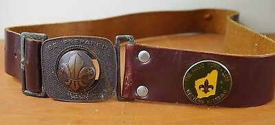 Vintage Scout Belt Be Prepared Leather Made in Australia
