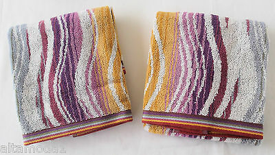 MISSONI HOME PACKAGE PEGGY 159 - 2 HAND TOWELS 40x70 cm -2 OSPITI BUSTA LOGATA