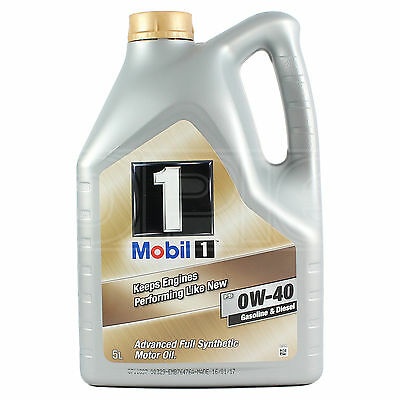 Mobil 1 0W-40 New Life Fully Synthetic Engine Oil 0W40 Mobil1 5 Litres 5L