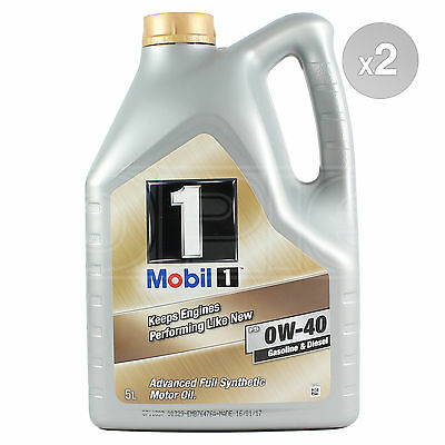 Mobil 1 0W-40 New Life Fully Synthetic Engine Oil 2 x 5 Litres 10L