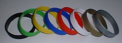 25 Plain Silicone Wristband, No Text, Junior Size - Choose Colour, Free UK P & P