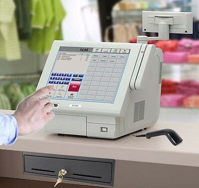 EPSON IM-700 ALL in ONE TOUCHSCREEN KASSE SCANNER BONDRUCKER SOFTWARE GDPDU POS