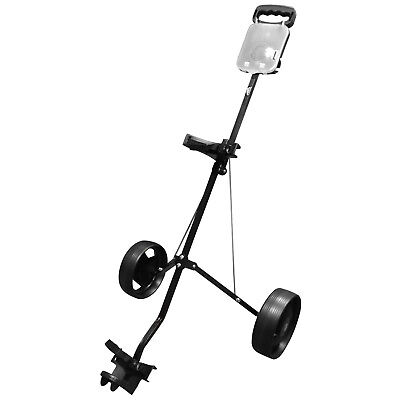 Md Golf Turfglider 2 Wheel Cart Bag Pull Trolley - New Folding 2016 Masters