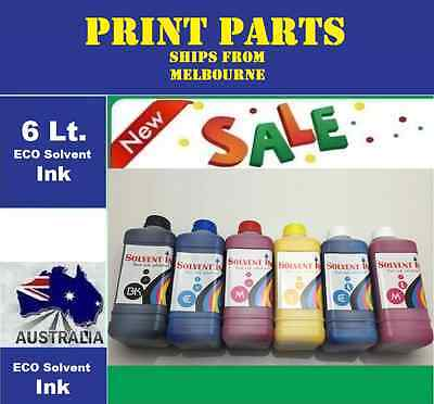 Eco Solvent ink for DX2-Dx4-Dx5 Printhead Roland Mimaki Muton (6 Liters).