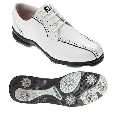 Footjoy Womens Softjoys White Golf Shoes -Ladies Fj Leather Waterproof Tour 2014