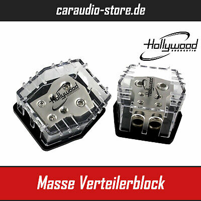 Hollywood HPDX04 Masse Verteilerblock - 2x 53,0mm² - 2x 21,4 mm