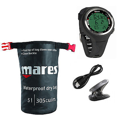 Mares Smart Dive Black + Interfaccia + Dry sack 01IT