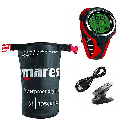 Mares Smart Dive Rosso + Interfaccia + Dry sack 01IT