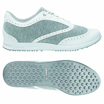 Adidas Womens Classic Spikeless Golf Shoes White - New Ladies Street Summer