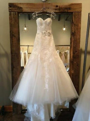 New white/ivory Lace Wedding Bridal dress Gown custom Size 6-8-10-12-14-16-18-20