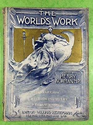 THE WORLD'S WORK & PLAY - Edwardian Shilling Monthly - Jan. 1904 - Henry Norman