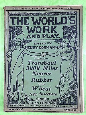 THE WORLD'S WORK & PLAY - Edwardian Shilling Monthly - Oct. 1906 - Henry Norman