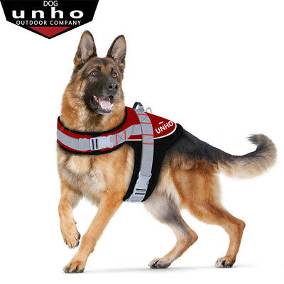 UNHO Strong Adjustable Large Dog Trainning Harness With Handle and Matching Lead