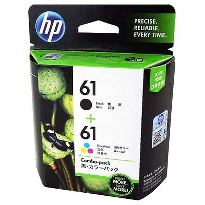 New Genuine HP 61 Black Color Combo Ink Cartridge CR259FN Deskjet 2050 2510 2540