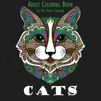 Adult Coloring Book: Cats (Paperback)