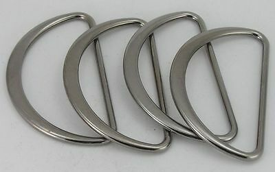 4 D-Rings round-flat Colour steel 60mm (67x39mm) 00. 73st