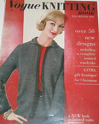 Vintage 1950s VOGUE KNITTING BOOK Fall & Winter 1959 Over 50 Pattern Designs
