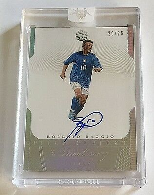 2016 Flawless Roberto Baggio On-Card Auto #d 20/25 Pitch Perfect Italy Autograph
