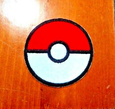 New Cute Pokeball Ball Pokemon Embroider Cloth Patch Applique Badge Iron Sew On