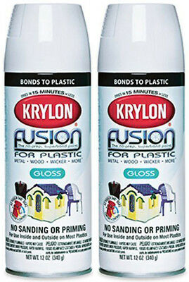 6 Pk Krylon Fusion For Plastic 12 Oz Sunbeam Gloss Spray