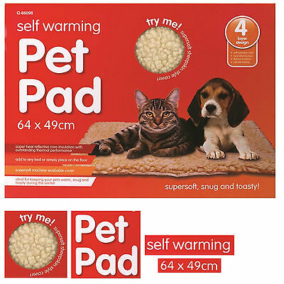 New Magic Amazing Thermal Self Heating Pet Bed Cat Dog Puppy & Warm Mat UK