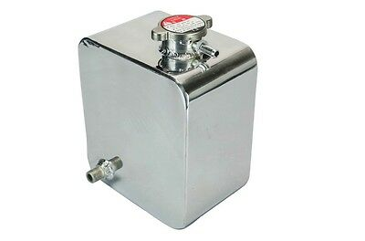 Universal 2 litre Polished Alloy Radiator Overflow Recovery Tank