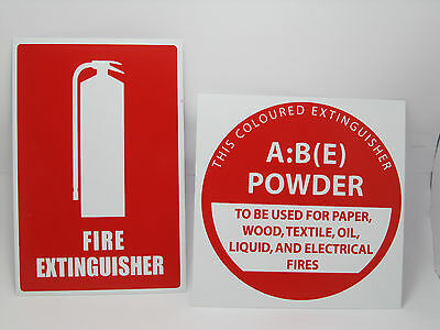 Fire Extinguisher Location Sign and ABE Identification Sign AS 2444