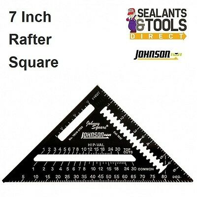 Johnson Johnny 7 inch Roofing Quick Angle Square Rafter Carpenter Easy Read