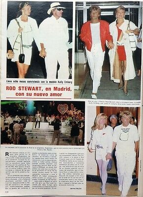 ROD STEWART and KELLY EMBERG =>  1 page 1984 SPANISH CLIPPING