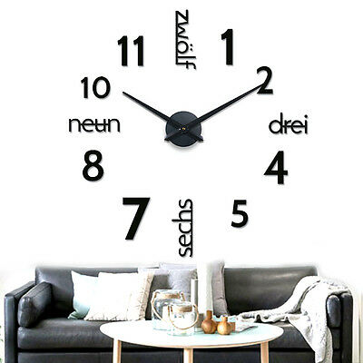 wanduhr uhrzeiger metall schwarz xxl riesig gro uhr zeiger uhrwerk xl big time eur 25 00. Black Bedroom Furniture Sets. Home Design Ideas
