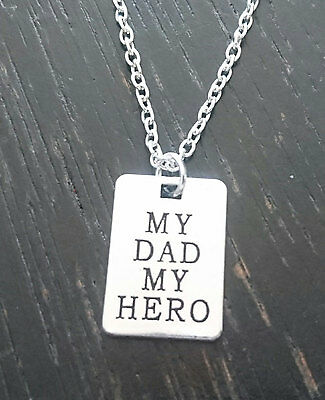 My Dad my Hero Necklace, My Dad my Hero Charm, Dad, Dad Daughter