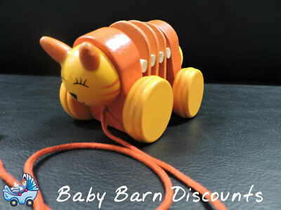NEW Wooden - Pull Along Tiger from Baby Barn Discounts