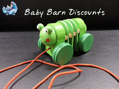 NEW Wooden - Pull Along Frog from Baby Barn Discounts