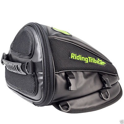 NEW Back Seat Rear Storage Motorcycle Bag Motorbike Package Saddle Tail Bag