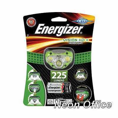 Energizer Vision HD+ 225 Lumens Super Bright Headlight & 3x AAA Batteries