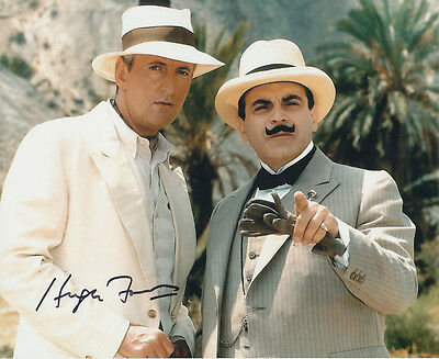 Hugh Fraser In Person Signed Photo - A712 - Poirot