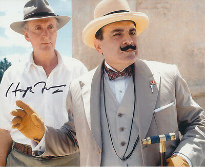 Hugh Fraser In Person Signed Photo - A713 - Poirot