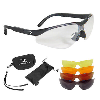 Radians Safety Clay Pigeon Shooting/Hunting Glasses 5 Lens Kit BNWT RRP £39.99