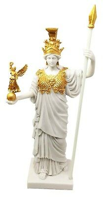 "11.75"" Height Goddess of Wisdom Athena in Gold Accent Finish Figurine Statue"
