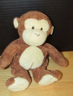 "Ty Pluffies 10"" DANGLES Brown MONKEY Plush 2002 Stuffed Animal baby lovey"