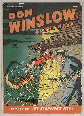 Don Winslow of the Navy #44 April 1947 Classic Scorpion's Web