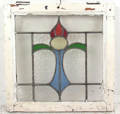 Antique Vintage English Hanging Stained Glass Window (1430)NJ