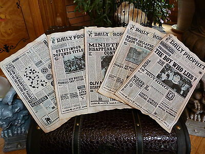 Harry Potter Five aged pages from the Daily Prophet